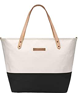 Petunia Pickle Bottom DTCB-523-00 Downtown Tote, Birch/Black