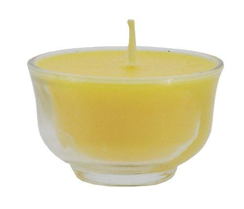 Mandala Crafts® Tibetan Buddhist Tealight Vanaspati Ghee Butter Lamp Candle Set(10 Small Clear Cups)