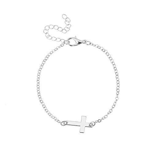 New Charm Cross Cross Chain Bracelet Fashion Jewelry Pulseras Mujer Women's Bracelet Silver ()