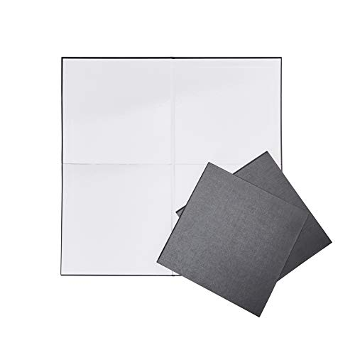 Juvale Game Boards Blank for DIY - 3-Pack Dry Erase Board Game, 18 x 18-Inch Folding Game Board, Make Your Own Board Game for Game Night, Classroom School Craft Project, Party Game, Black
