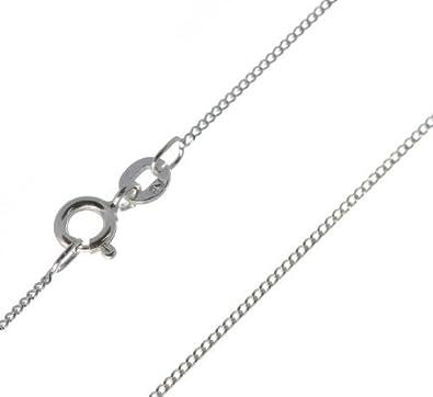 Solid Genuine Italian 925 Sterling Silver 1.1mm Diamond Cut Curb Chain bhcXI4u
