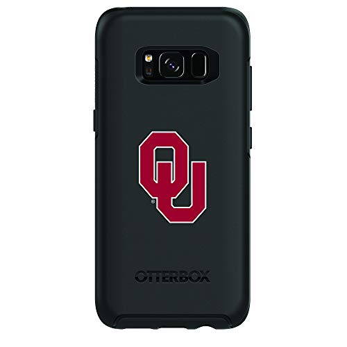 Fan Brander NCAA Black Phone case with Primary Design, Compatible with Samsung Galaxy S8 with OtterBox Symmetry Series (Oklahoma Sooners)