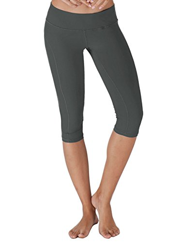 Price comparison product image Yogareflex - Yoga Capris for Women - Workout Capri Pants With Hidden Pocket (XS-3XL) , Charcoal , XX-Large