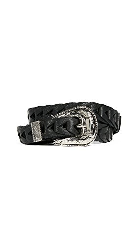 B-Low The Belt Women's Baby Frank Link Belt, Black/Silver, Small by B-Low the Belt