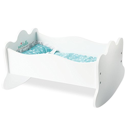 Manhattan Toy Baby Stella Time To Sleep Cradle Baby Doll Bed for 12