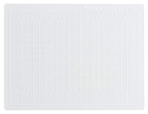 Dahle Vantage 10680 Self-Healing 5-Layer Cutting Mat Perfect for Crafts and Sewing 9 x 12 Clear Mat