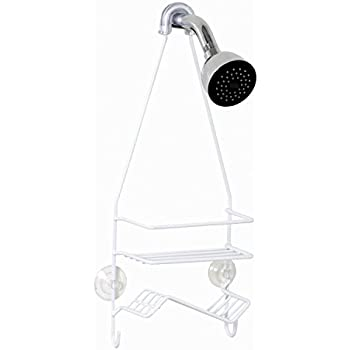 Zenna Home 7504W, Over-the-Showerhead Caddy, White