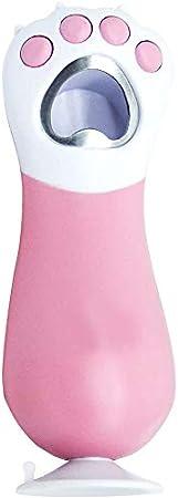 Botella Botellas de Cerveza abridor sacacorchos con la Pata del Gato Lindo del sacacorchos de Bolsillo de la Botella de Cristal Cerveza Vino de Coca-Cola (Rosa)