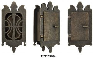 Superbe Small Art Nouveau Door Grille Or Speakeasy Or Peephole Set (ZLW DK334)