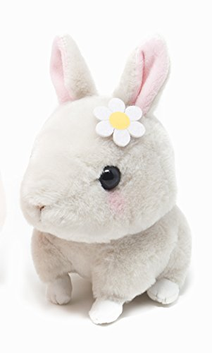 4' Plush Bear Keychain - Amuse Kyun Bunny & Mouse Pika Song plush with squeaky Sound - 4