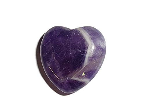 Sublime Gifts 1pc Amethyst Multi Color 25mm Heart Shaped Crystal Healing Gemstone Pre Drilled Bead Pendant ()