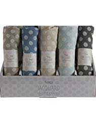 (tag French Jacquard Kitchen Towels Set of 5 Polka Dot Dishcloths Dish Towels)