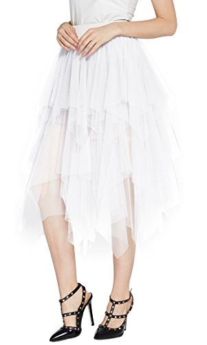 Urban CoCo Women's Sheer Tutu Skirt Tulle Mesh