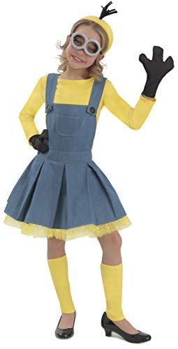 Princess Paradise Minions Girl Jumper Costume, Blue/Yellow, Medium
