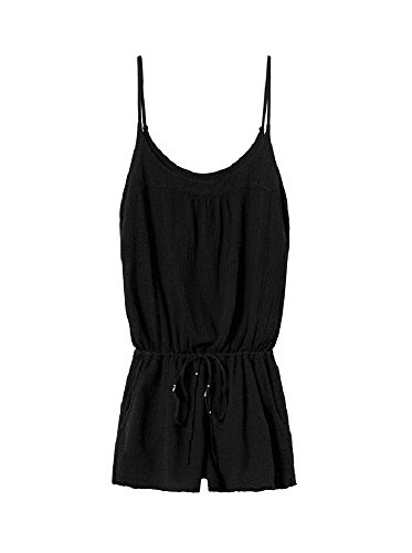 SUNDRY Black Gauzy Cotton Romper (3/L)