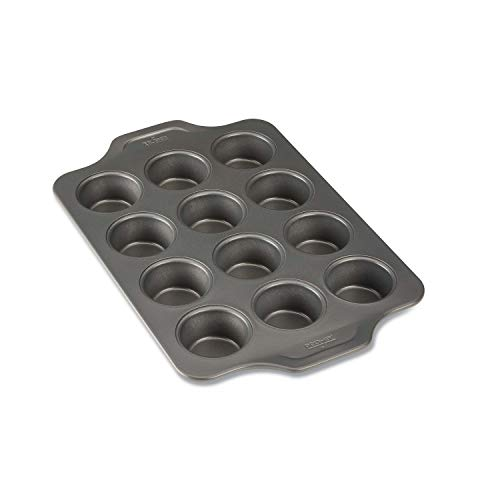 All-Clad Pro-Release Nonstick Bakeware Muffin Pan, 12 cup, Gray