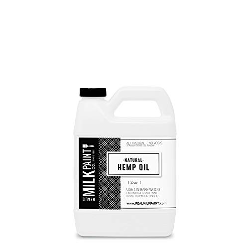 Real Milk Paint Hemp Oil - 32oz (Recycled Furniture)