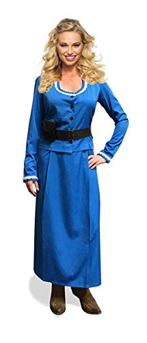 (Seeing Red Western Woman Adult Blue Costume Dress -)
