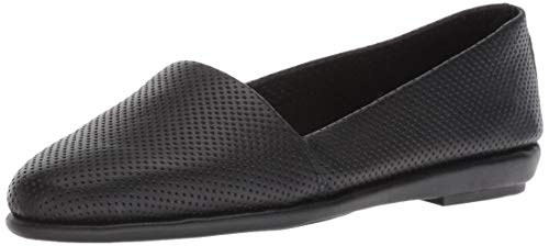 Aerosoles - Women's Ms Softee Ballet Flat - Round Toe Slip-On Shoe with Memory Foam Footbed (6.5M - Black Leather)