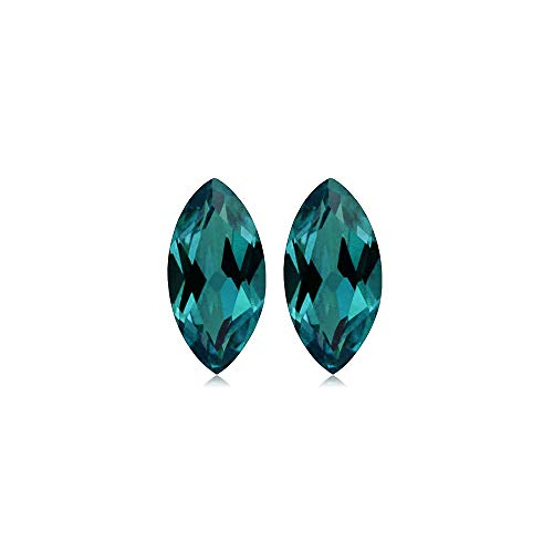 - Mysticdrop 0.352-0.428 Cts of 5.0x2.5 mm AAA Marquise Cut Lab Created Alexandrite (2 pc) Loose Gemstone