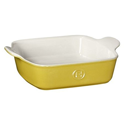 Emile Henry HR Modern Classics Square Baking Dish 8 x 8 inch / 2 Qt, Yellow