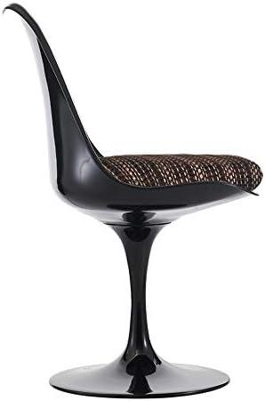 Eero Saarinen Chaise latérale de Style Tulipe de café Noir et texturé