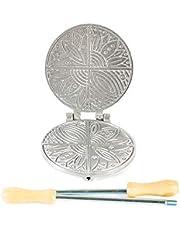 Bakvorm voor ferratel en wafels van aluminium, rond, smal