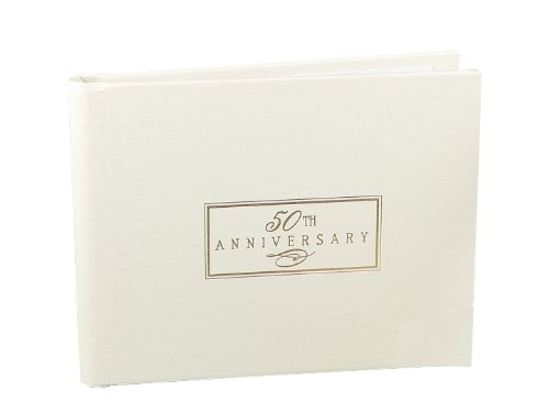 Hortense B. Hewitt Wedding Accessories 50th Anniversary Guest Book, 7.5-Inches x 5.75-Inches