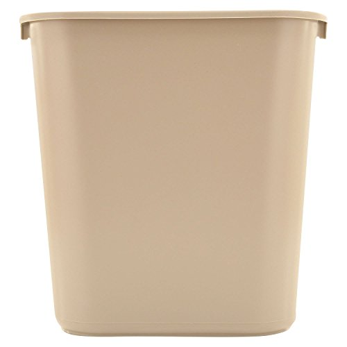 Rubbermaid Commercial Plastic 7-Gallon Trash Can, Beige (Pack of 2)