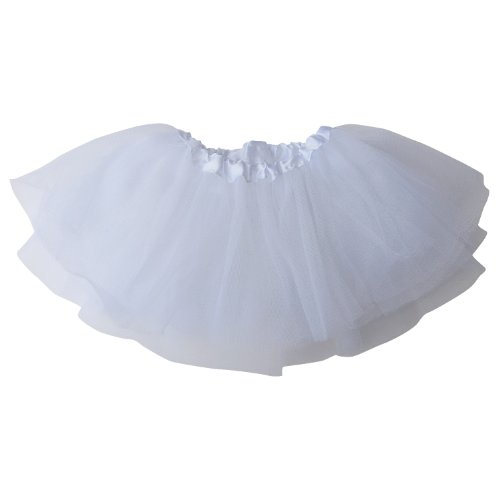 So Sydney Basic Baby Infant Newborn Dance Dress-Up Princess Fairy Costume Tutu (White)
