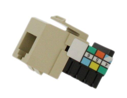 Leviton 41106-RI6 Voice Grade QuickPort Connector, Ivory ()