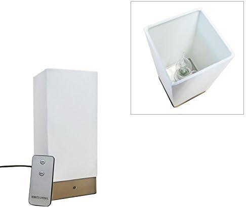 24 cm Grundig Tischlampe Tischleuchte Fernbedienung Nachttischlampe Touch E14