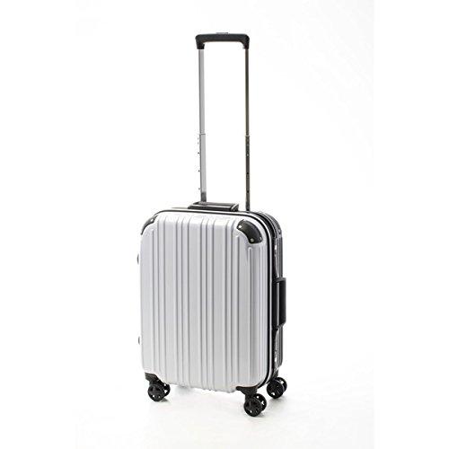 ツートンカラー スーツケース/キャリーバッグ 【Sサイズ カーボンホワイト/ブラック】 33L 『アクタス』【代引不可】 ファッション バッグ スーツケース トラベルケース top1-ds-2024953-ah [簡素パッケージ品] B07B7J7RFD