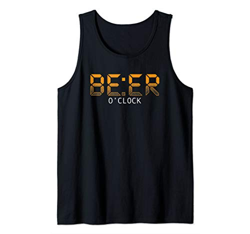 Beer O'Clock Brewery Funny Craft Beer Lover Drinker Gift Tank Top ()