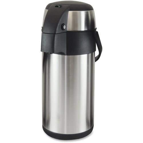 Genuine Joe 11961CT Vacuum Pump Pot, 3.0L, 6BX/CT, Stainless Steel