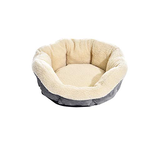 AmazonBasics Round Self Warming Pet Bed For Cat or Dog - 18 x 8 Inches