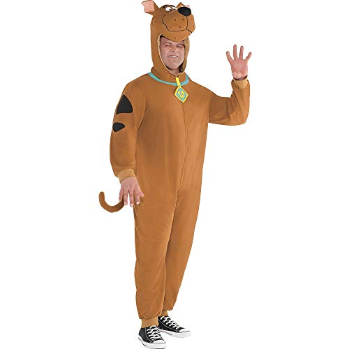 SUIT YOURSELF Zipster Scooby-Doo One-Piece Costume for Adults, Plus Size, Includes a Jumpsuit with a Scooby Headpiece]()