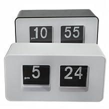 Pakhuis Retro Flip Classic Stylish Desk Auto Modern Clock - Black