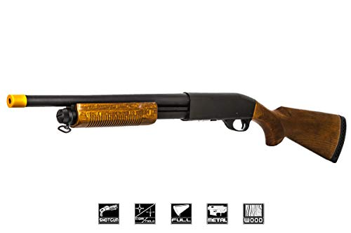 Classic Army Police CA870 Spring Airsoft Shotgun (Black/Wood)