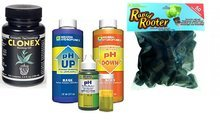 Hydro Galaxy Rooting Gel, Replacement Plugs, and pH Control Kit