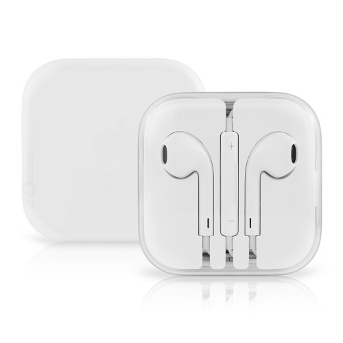 White Wired Headphones/Earbuds with Mic & Volume Control Quality Value Earphones