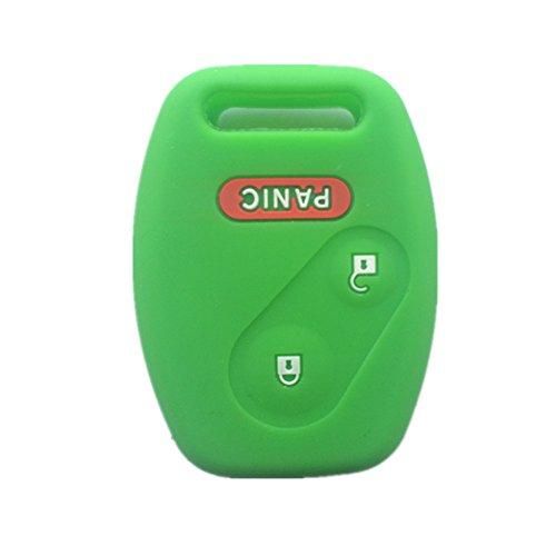 Green Silicone Rubber Keyless Entry Remote Key Fob Case Skin Cover Protector for Honda 2+1 Buttons