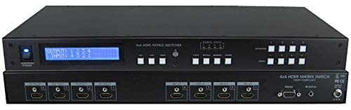 (4x4 4:4 HDMI HDTV MATRIX CROSSPOINT ROUTING SWITCHER SELECTOR 3D EDID MANAGER)