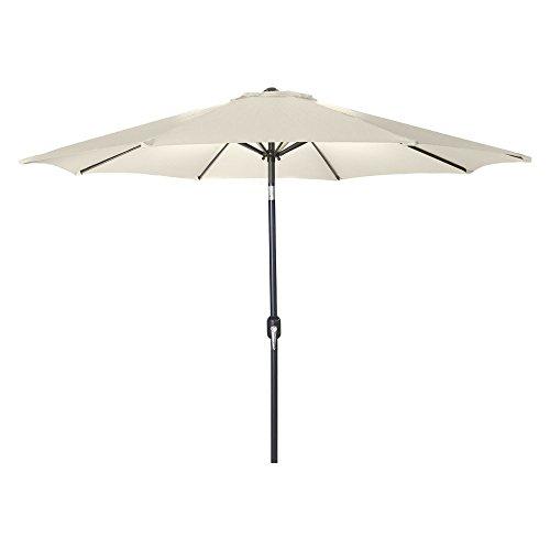 Jordan Manufacturing US904L-NAT Steel Market Umbrella, 9', - Natural Jordans