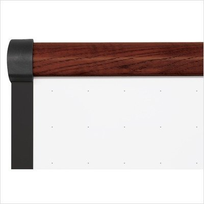 Best Rite 221OH-03-S4 48 in. x 96 in. Thermal-Fused Melamine Dot Grid Whiteboard with Trim by Best-Rite