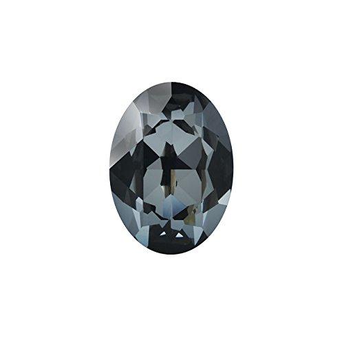 Swarovski Crystal, 4120 Oval Fancy Stones 14x10mm, 1 Piece, Crystal Silver Night F