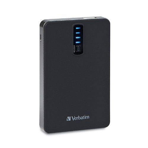 Verbatim 5,200 mAh Dual USB Power Bank 98008