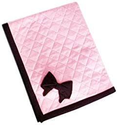 Ruff Ruff Couture Coco Bow Quilted Blankee for Pets, 24 by 28-Inch, Princess Pink