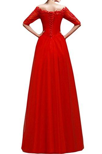Sunvary - Vestido - para mujer Rosso