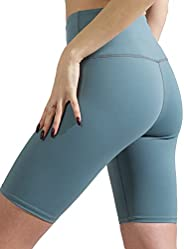 AJISAI Biker Shorts for Women,High Waisted Print Yoga Workout Compression Shorts-9&